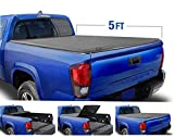 Tyger Auto (Soft Top T3 Tri-Fold Truck Tonneau Cover TG-BC3T1630 Works with 2019 Toyota Tacoma | Fleetside 5' Bed | for Models with or Without The Deckrail System