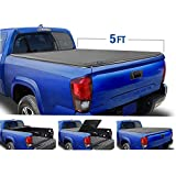 Tyger Auto T3 Tri-Fold Truck Tonneau Cover TG-BC3T1630 Works with 2019 Toyota Tacoma | Fleetside 5' Bed | for Models with or Without The Deckrail System
