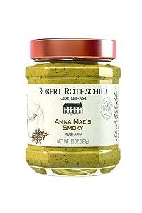 Robert Rothschild Farm Anna Mae's Smoky Mustard (10 oz) - Mustard Condiment - Sandwich Spread - Bratwurst, Summer Sausage, Hot Dog Condiment - All Natural, Gluten Free