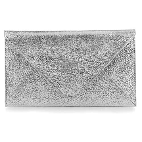 Otto Angelino Genuine Leather Wallet |Multiple Slots Money, ID, Cards, Smartphone, RFID Blocking| Unisex (Silver) (Get Pre Approved For Store Credit Cards)