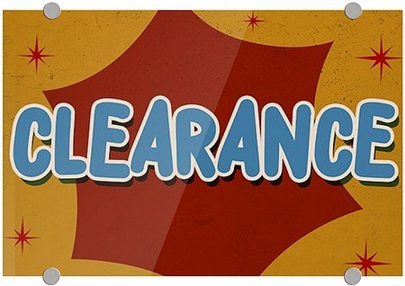 """""""Clearance -Nostalgia Burst"""" Clear 1/8"""" Acrylic Sign with included Stand-Offs 