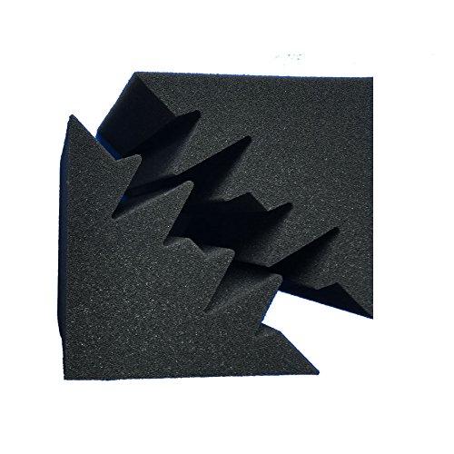 Xin et LG 8/pcs 11,7/x 11,7/x 23,9/cm vente mousse acoustique Black Bass Trap insonorisation mousse