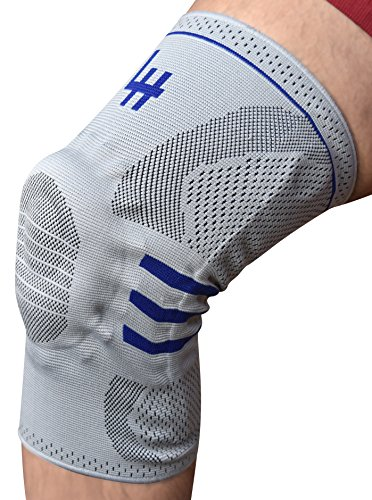 Active Relief Knee Brace by Lifehapps – Gel Knee Support and Compression Sleeve with Side Stabilizers for Arthritis Joint Pain, Meniscus Tears, ACL,MCL Injuries, Exercise,Running and Gym (Large,Gray)