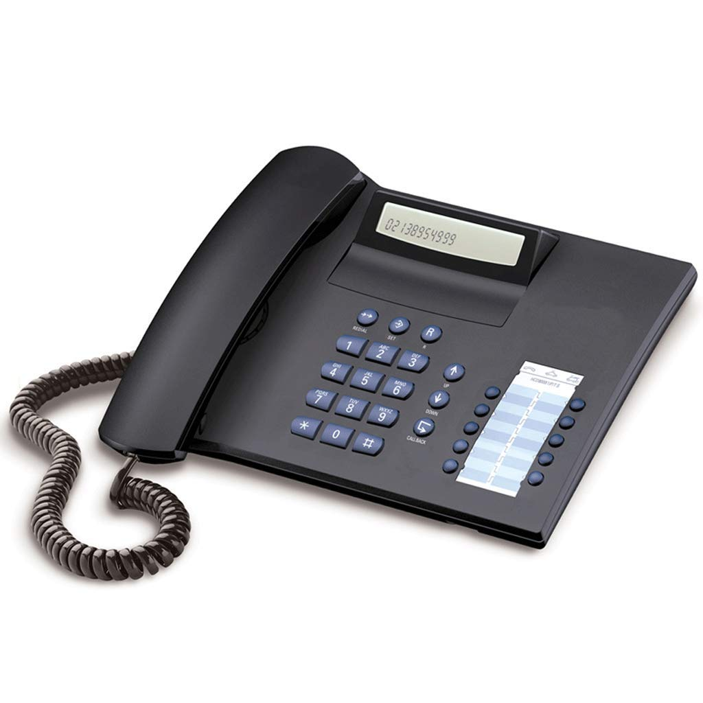 レトロ電話有線ホームオフィスヴィンテージパーソナリティ固定固定電話 (色 : 青)  青 B07MQR2TCY