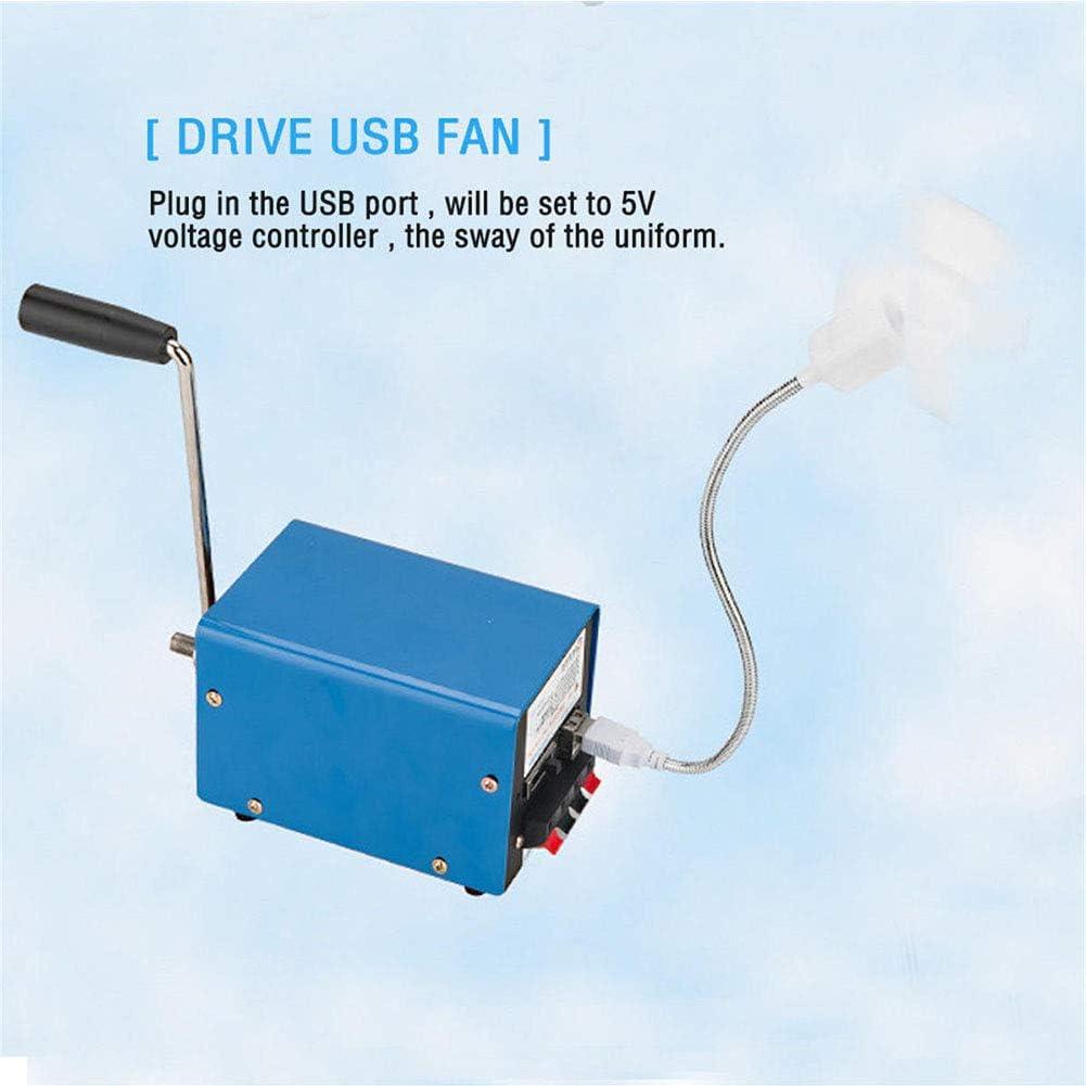QZY Al Aire Libre 20W Manual De Manivela Generador De Bricolaje USB El/éctrico Dinamo Energ/ía De Emergencia del Tel/éfono Cargador