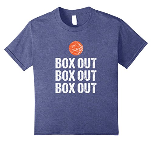Funny Basketball Coach Tshirt Box Out Quote Grunge Graphic