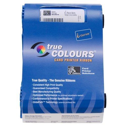 Zebra card 800017-202 I Series Monochrome Cartridge Ribbon for P1XX Printer, Red True Color - Data Card Ribbon