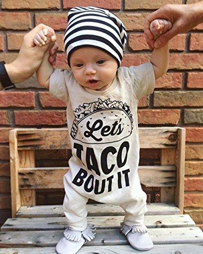 Baby Boy Letter Print Short Sleeve Romper Jumpsuit Outfit Clothes Size 90/12-18 Months(Apricot)