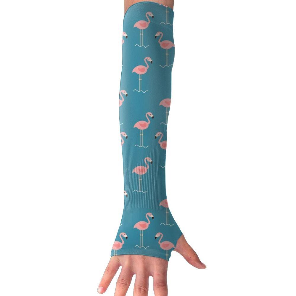 Unisex Flamingo Standing Wave Sense Ice Outdoor Travel Arm Warmer Long Sleeves Glove