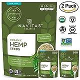 #8: Navitas Organics Raw Hemp Seeds, 8 oz. Bags (Pack of 2) - Superfood, Organic, Non-GMO, Low Temp-Hulled, Gluten-Free, Vegan, Kosher