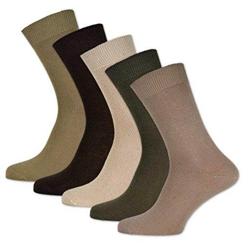 10 Paar Damen & Herren Socken 100% Baumwolle ohne Naht und ohne Gummidruck versch. Sortierungen