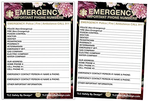 Emergency Contact Cards in Magnetic Sleeve Home Alone 5