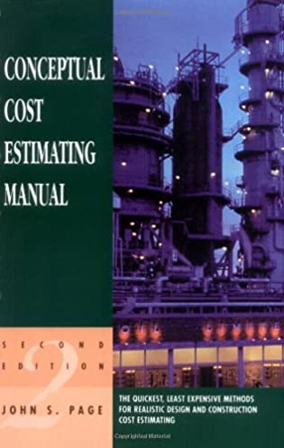 conceptual cost estimating manual john s page 9780884152675 rh amazon com Construction Estimating Estimating and Engineering