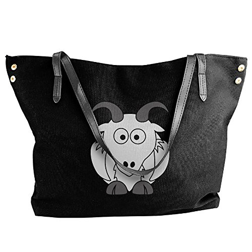 Goats Canvas Women's Handbags Shoulder Handbag Large Black Tote qawXWUaH