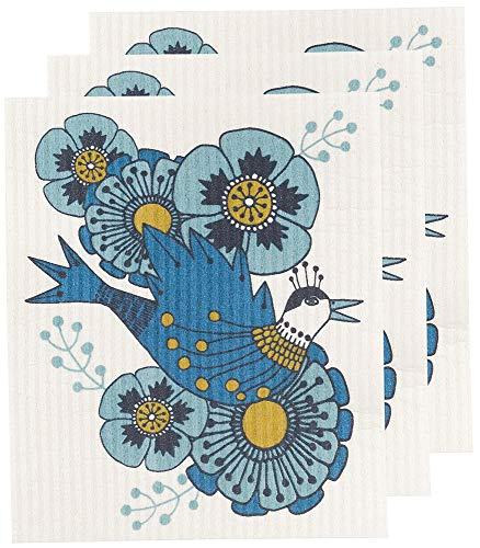 Danica Studio Swedish Dishcloths, Set of Three, Birdland Design