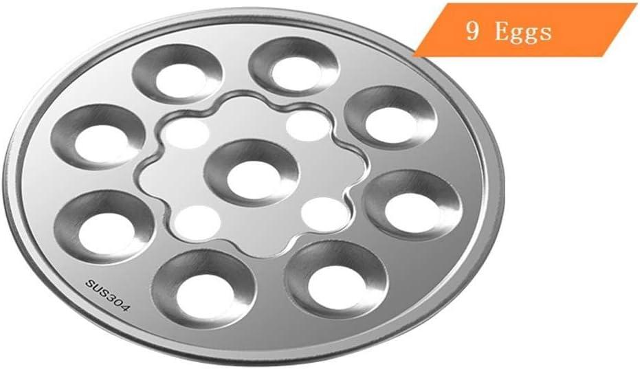 CDFD 2-lagiger multifunktionaler Eierkocher Eierpuddingdampfer Edelstahl-Omeletts Maschinen-Lebensmittelheizung, 220V 220v