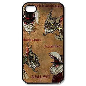 Elegant of Design Hard Case Back Cover Case Cheshire Cat baby Quotes We Are All Mad Here for help iPhone 6 4.7Black030903 baby