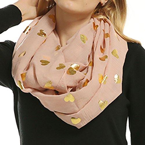 Women Soft Silky Shawl Wrap Scarf Classic Loop