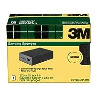 3M Sanding Sponge, Medium Grit, 6-Pack