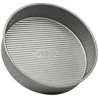 Pan Panadero de EE.UU. Pan redondo Pastel de 8 pulgadas, antiadherente y recubrimiento de liberación rápida, hecho en los EE. UU. De acero aluminizado