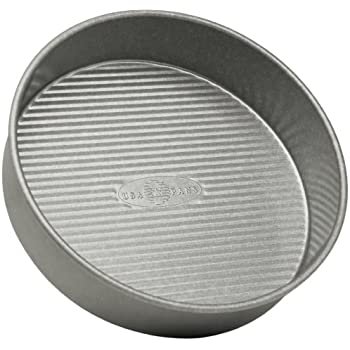 USA Pan Bakeware Round Cake Pan, 9 inch, Nonstick & Quick Release Coating, Made in the USA from Aluminized Steel