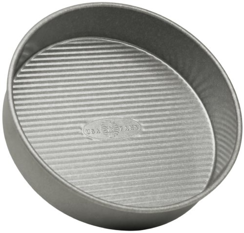 USA Pan Bakeware Round Cake Pan, 8 inch, Nonstick & Quick Release Coating, Made in the USA from Aluminized Steel 8 Round Cake Pans