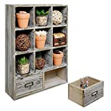 Show off and store a variety of items in charming country-rustic style with this wall-mounted organizer rack. The sturdy wood that makes up this shelf rack features a rustic-style finish that will add a warm, welcoming touch to your home's de...