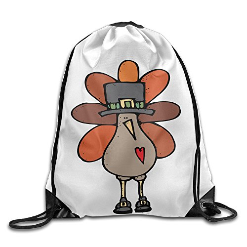Happy Thanksgiving Turkey Cute Cortoon Cool Drawstring Backpack String Bag (Pack Apl)