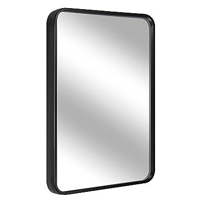 Black BEAUTYPEAK Wall Mirror 20 x 28 Rectangular Mirror with Metal Frame Rectangle Hanging Mirrors Set for Living Room Bedroom Bathroom Entryway Hangs Horizontal or Vertical