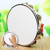Andensoner Tambor de panderero de Cuero de Capoeira, pandereta de Cuero de poliéster Pandereta de pandereta de Samba Brasil Instrumento de música de Madera