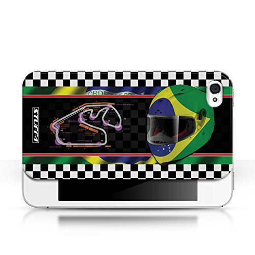 Etui / Coque pour Apple iPhone 4/4S / Brésil/SãoPaulo conception / Collection de F1 Piste Drapeau