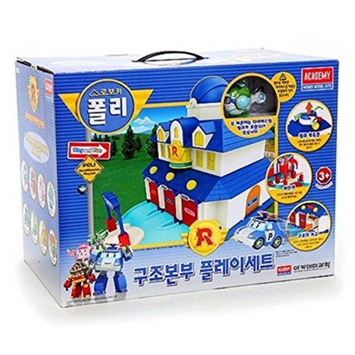 ACADEMY Robocar Poli Diecast Rescue Center Play Set by Academy