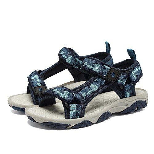 b341af37d FANTINY Kids Athletic Sandals Boy and Girls  Two-Straps Open Toe Outdoor Beach  Sports Sandals (Little Kid Big Kid) SAC101 dark blue 33