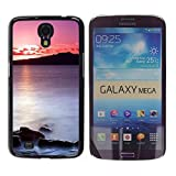 TopCaseStore / Snap On Hard Back Shell Rubber Case Protection Skin Cover - Sunset Sea Beautiful Nature 20 - Samsung Galaxy Mega 6.3 I9200 SGH-i527