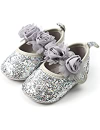172ba9dbdcc Amazon.com: Silver - Mary Jane / Flats: Clothing, Shoes & Jewelry