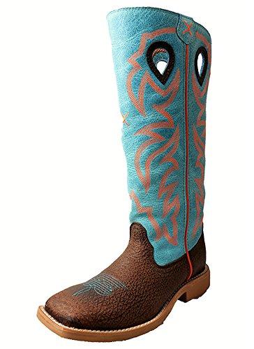 Twisted X Boots Boys Buckaroo Cowboy Boots 3.5 Distressed Brown