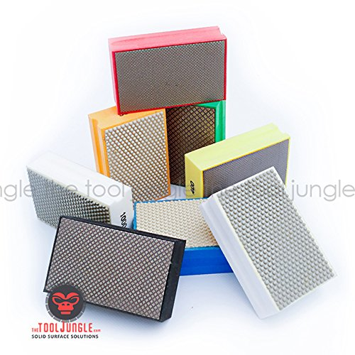 Diamond Hand Polishing Pads block style for Stone, Concrete, Granite,Marble (3500 grit)