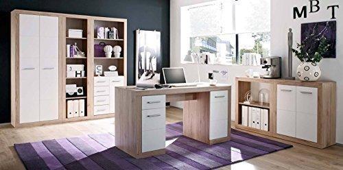 Arbeitszimmer Möbel komplettes arbeitszimmer in san remo eiche weiß büromöbel