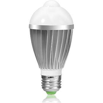 Litake Motion Sensor Light Bulb, 7W E27 PIR Infrared