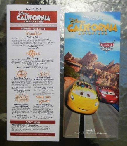 Disney's California Adventure Cars Land Grand Opening June 15, 2012 Map and - Adventure Map Disneyland