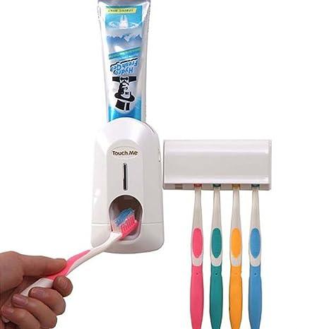 sboz automático dispensador de pasta de dientes exprimidor y cepillo de dientes titular Set Kit de