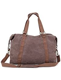 Toupons Canvas Weekend Travel Duffel Bag Overnight Bag
