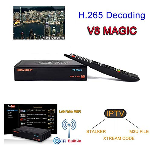 Tenlso 2019 New Satellite Receiver IBRAVEBOX V8 Magic DVB-S2 IPTV Xtream Stalker H.265 Built-in WiFi Receptor 1 Year Europe Cline V9 Super Support IPTV by Tenlso (Image #9)