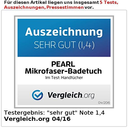 Pearl Extra Absorbant en Microfibre Drap DE Bain 180 x 90 cm Bleu