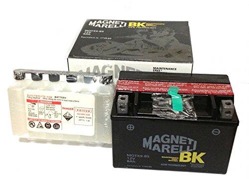 MIM Distribution BATTERIA MAGNETI MARELLI YTX9-BS SUZUKI AN Burgman 400 1998-2002 12V 8 Ah CON ACIDO