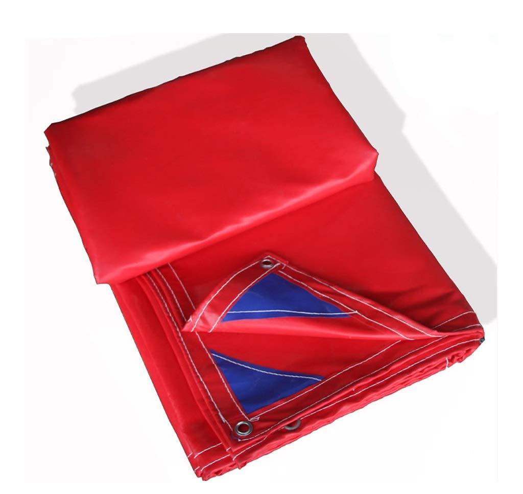 防水布防水布ターポリン赤い青色屋外の家具ピクニック車キャンプ/複数のサイズがあります (色 : Red, サイズ さいず : 5m*8m) 5m*8m Red B07J6MCY7S