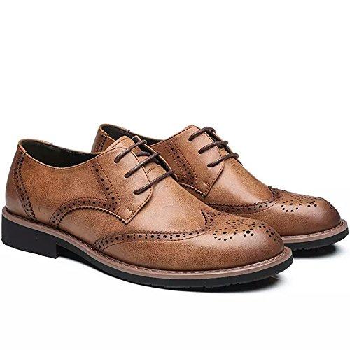 LHLWDGG.K Zapatos De Vestir De Los Hombres Zapatos De Boda Oficina De Negocios Plana Con Los Hombres, Amarillo, 13 13|Yellow