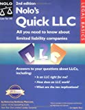 img - for Nolo's Quick LLC: All You Need to Know About Limited Liability Companies book / textbook / text book
