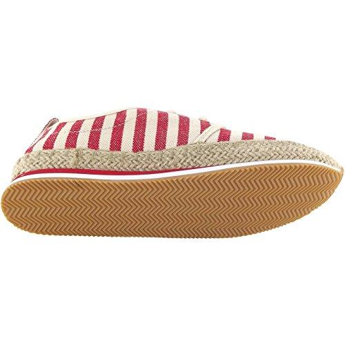 Pepe Jeans Babel W Stripes, Chaussure Basse Femme, Rouge/Beige (Salsa), 40