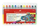 Faber Castell Gel Crayons - 12 Vibrant Colors In Durable Storage Case